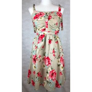 M60 Miss Sixty Floral Self-Tie Strap Sundress. (6)